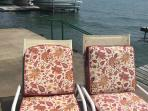 Enjoy reading or sitting by the lake - weather permitting.  Cushions may change - no cushions inrain