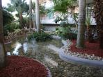 Peaceful landscaping at South Seas