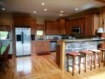 The kitchen is well appointed and ready to accommodate your family's needs.