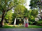 A private playground available for children and for adults to chill.