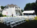 The cottage is available for weddings and parties of up to 60 guests.  Call for pricing.