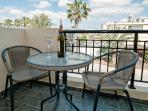 Breakfast: 'En -suite-private-balcony' for the twin bedroom,  overlooking  quiet residential area.