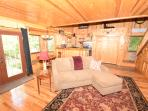 Wood throughout and a brand new queen sleeper sofa.