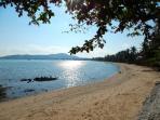 Nearby beach is good for a walk and nice restaurants on the beach.