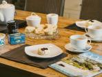 Refresh yourselves on arrival. Part of our Welcome Hamper of homemade scones, clotted cream & jam.