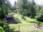 view from the guest house balcony towards the front of the property