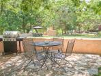 Outdoor Patio with Propane and Charcoal Grill