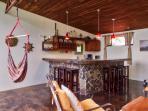 Upstairs open bar area