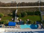 Balcony overlooking the outdoor pool
