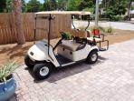 Free Street Legal Golf cart included at the home for your personal use!