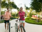 Free bicylce tour daily - registration at Sian Kaan adults only hotel pool kiosk