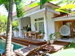 spacious villa with 3 bedrooms + 3 bathrooms.