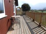 View across front deck.