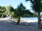 la plage à moins de 50 m (une rue à traverser)