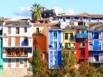 Casas típicas de colores