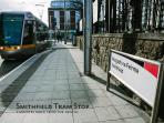 Smithfield Tram Stop, just 3 minutes walk from the rental