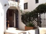 Patio garden and side door