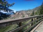 Hiking the trestles at Myra Canyon near Kelowna