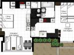 2BR Floor Plan Bayshore
