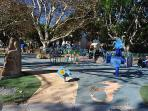 Rush cutters Bay children's park by the harbour-side, five minutes from the apartment.