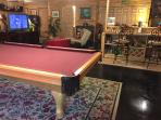 Pool table, bar....time for fun!