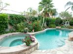 Enjoy the private pool and tropical landscape