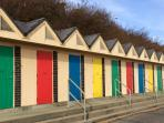 Beach huts as you walk along the beach