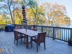 Grill out and enjoy dinner accompanied by a beautiful lake view.