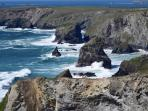 Nearby Bedruthan Steps, a great walk along the beautiful coast to the north