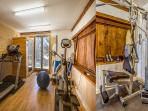 Our fantastic gym for those who really want to work out, and then relax in the sauna