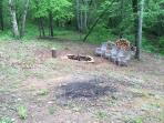Back yard fire pit.