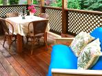 Covered deck off of the living room