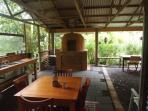 Pizza oven in communal area