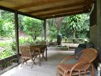 Front patio, Piccabean Cottage