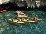 Sea kayaking is popular and one of the many water based activities on offer