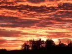 Le lever de soleil face au gîte