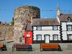The Smallest House in the UK on Conwy Quay.