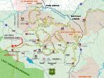 Buffalo Creek Mtn Bike trail map, with the Cabin shown.  We often ride 20 miles all on singletrack.