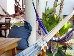 Hammocks everywhere for your comfort in our garden !