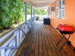 Grab some fresh air on the deck.