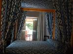 Lovely romantic room with four poster bed, TV and en-suite.