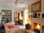 Smaller Sitting Room, providing a cosy place in the cooler months and lots to read.