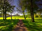 A 1min walk from the flat takes you here. Holyrood Park-Palace & Arthur's seat.