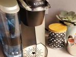 Keurig Coffee Maker (a few K-Cups provided)
