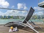 The magnificent sun deck at Corinium, your perfect chill out zone