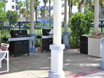 Gas BBQ area by the pool