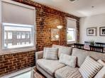 You'll love the exposed brick finish.
