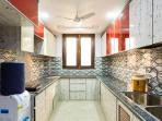 Kitchen View with Water Cooler and Mini Fridge