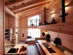 Küche und Gallerie