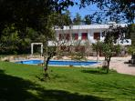 The villa - view from the orchard
